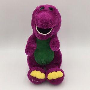 "Vintage 1990's Plush Barney Purple Dinosaur 13"""